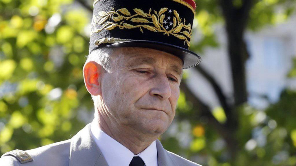 Tritt zurück: Pierre de Villiers, Generalstabschef Frankreichs. De Villiers hatte zuletzt für 2017 im Verteidigungsbudget vorgesehene Einsparungen kritisiert.
