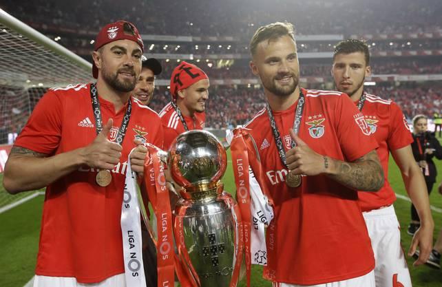 Der Mann aus Sursee feiert mit Benfica Lissabon den Meistertitel.