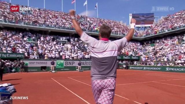 Stan Wawrinka qualifiziert sich für French Open-Finale