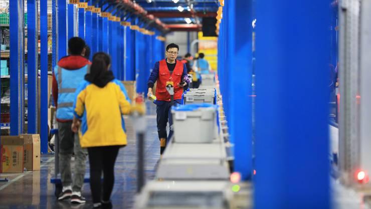 Hub des chinesischen Elektronikkonzerns und Alibaba-Partners Suning in Nanjing.