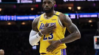 """""""Ich bin untröstlich und am Boden zerstört, mein Bruder!!"""": US-Basketballstar LeBron James kann den Tod seines Freundes Kobe Bryant kaum fassen."""
