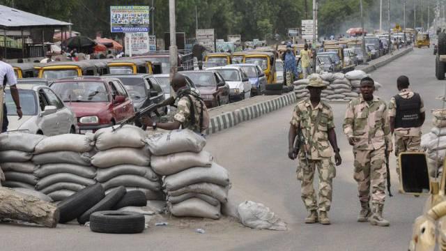 Checkpoint der nigerianischen Armee in Maiduguri (Archivbild)