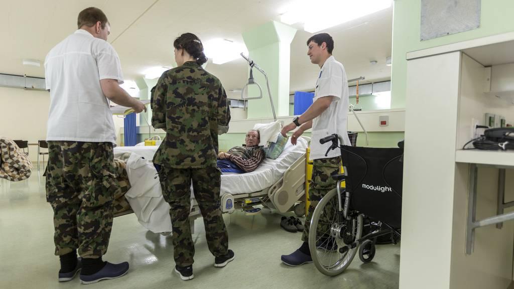 Spitalsoldaten im Einsatz
