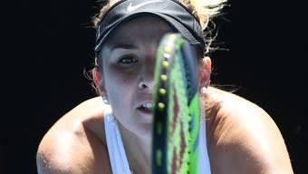 Belinda Bencic verliert das erste Game des dritten Satzes nach einer 40:0-Führung und bricht anschliessend gegen Jelena Ostapenko ein