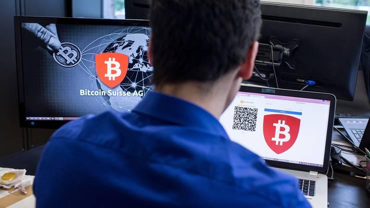 Blick in die Räumlichkeiten der Firma Bitcoin Suisse. (Alexandra Wey/Keystone, Baar, 24. Mai 2016)
