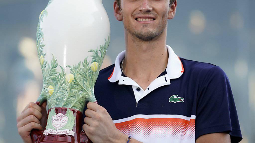 Daniil Medwedew feierte mit dem Sieg in Cincinnati den grössten Erfolg seiner Karriere