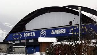 Die legendäre Valascia-Halle zu Ambri. Hier verlor Lugano gegen Ambri-Piotta mit 4:2.