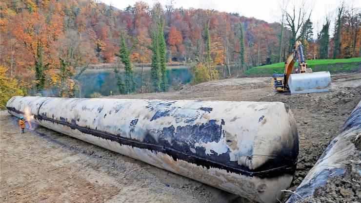 Im Herbst 2018 wurden die grossen Tanks zerlegt und entfernt.