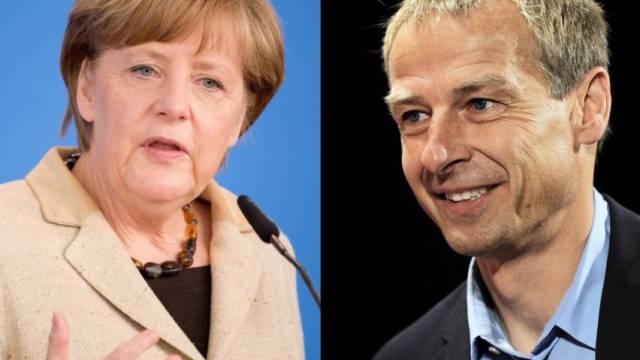 Angela Merkel (links) und Jürgen Klinsmann (Archivbilder)