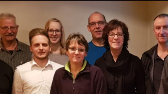 Von links: Theo Abrecht, Ignaz Juon (SSV), Pascal Abrecht, Marina Bösiger, Sonja Moser, Andreas Christen, Monika und Bernhard Stuber und David Schönholzer.
