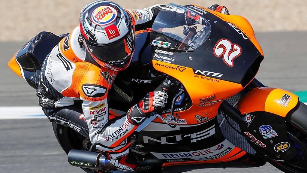 Wegen Kreislaufproblemen und Schwindelgefühlen derzeit ausser Gefecht: der Schweizer Moto2-Fahrer Jesko Raffin