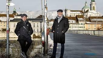 Beat Zürcher und Martin Nobs (v.l.) haben die blaue Uniform abgelegt und sind nur noch zivil unterwegs.
