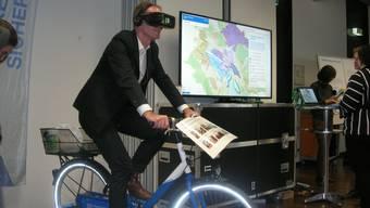 Auf dem Weg zur Smart City: Stadtrat Daniel Leupi (Grüne) an der gestrigen Medienorientierung.