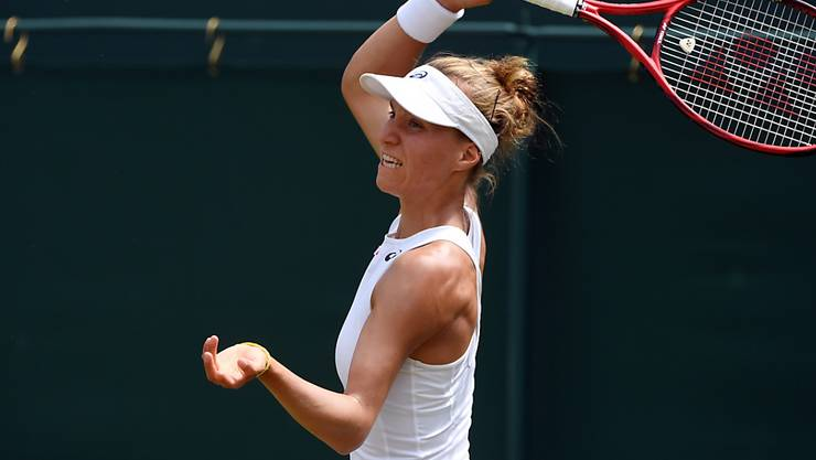 Viktorija Golubic siegte trotz einem Fehlstart