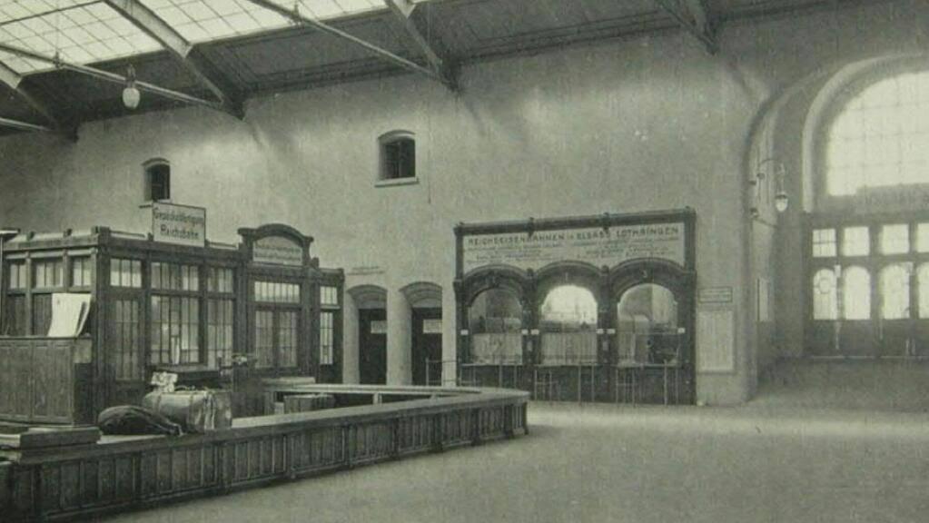So präsentierte sich der Westflügel 1907.