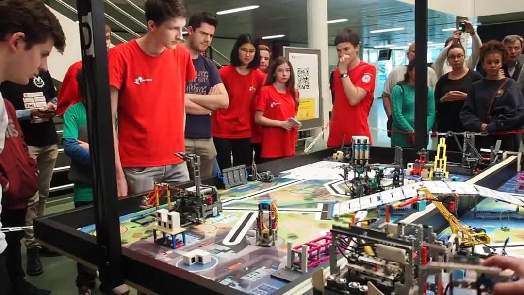 First-Lego-League Robotik-Schweizer-Meisterschaften 2020 an der FHNW Brugg-Windisch mit dem Team Mindfactory.