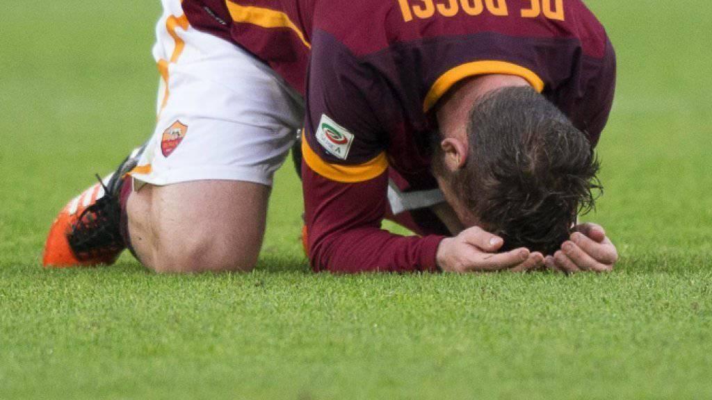 Daniele De Rossi und die AS Roma nach der Niederlage gegen Atalanta am Boden