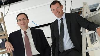 Andreas Albrecht, Präsident (l.), und Guy Lachappelle, der seit einem Jahr amtierende CEO der Basler Kantonalbank. Juri Junkov