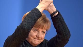Angela Merkel bedankt sich bei den CDU-Delegierten
