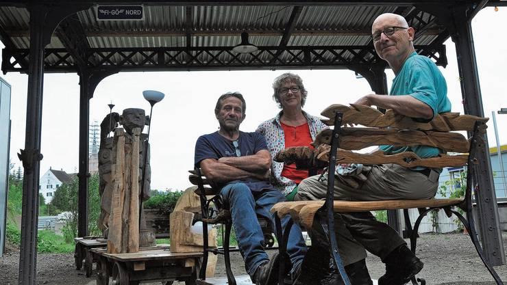 Martin Hufschmid, Brigitte Blaser und Daniel Glaser (v.l.).