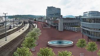 Stadträume wie hier in Brugg sollen aufgewertet werden. So entsteht Spielraum für die Eindeckung des Knotens Neumarkt.