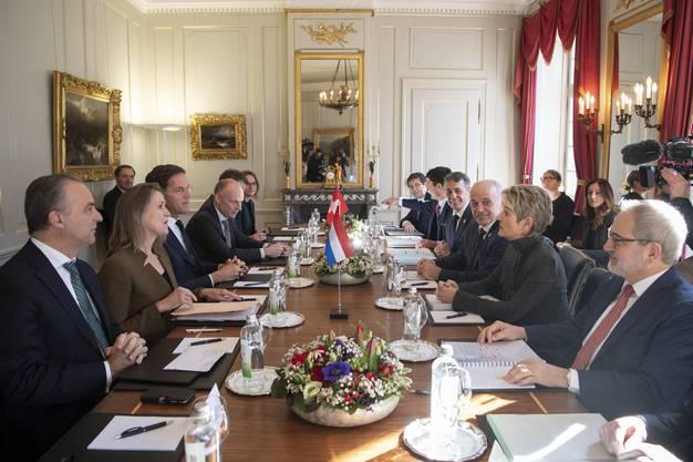 Auf dem Landgut Lohn bei Bern diskutierten die Würdenträger Fragen um den Brexit und die Migration.