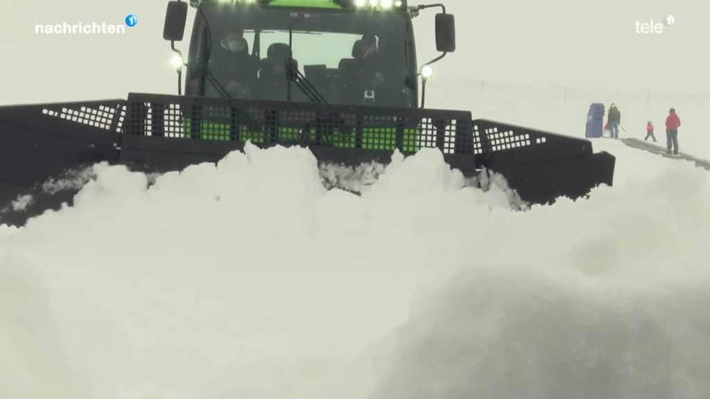 Erster grüner Pistenbully in der Zentralschweiz