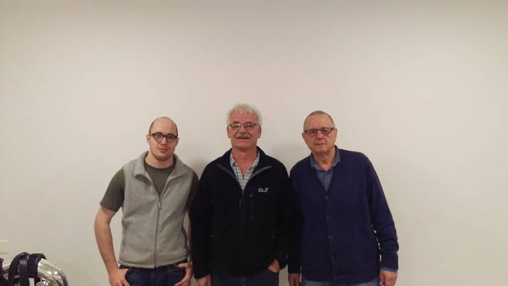 Joël Renggli, Anton Lack (Präsident), Thomas Wyss (v.l.n.r)