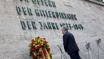 Joachim Gauck an der Erinnerungszeremonie