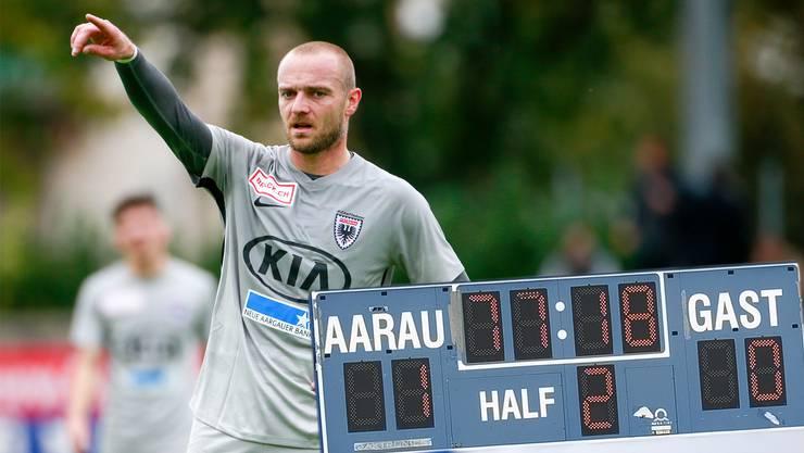 Marco Schneuwly hat in seiner Karriere 13 Tore gegen, aber noch keines für den FC Aarau geschossen.
