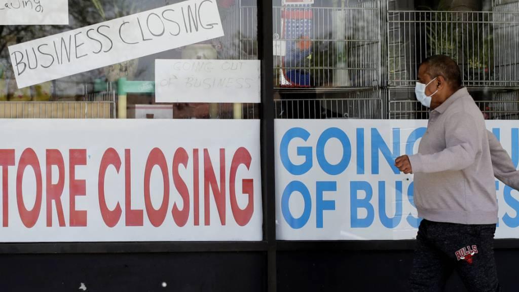 US-Konsumausgaben brechen ein wie nie zuvor