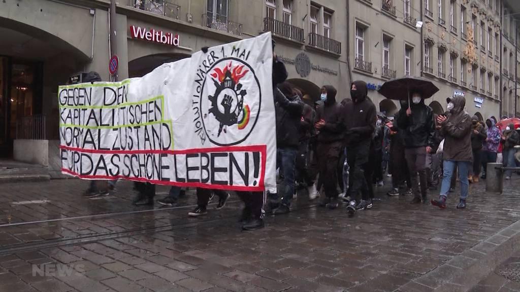 Zwei unbewilligte Demos in Bern