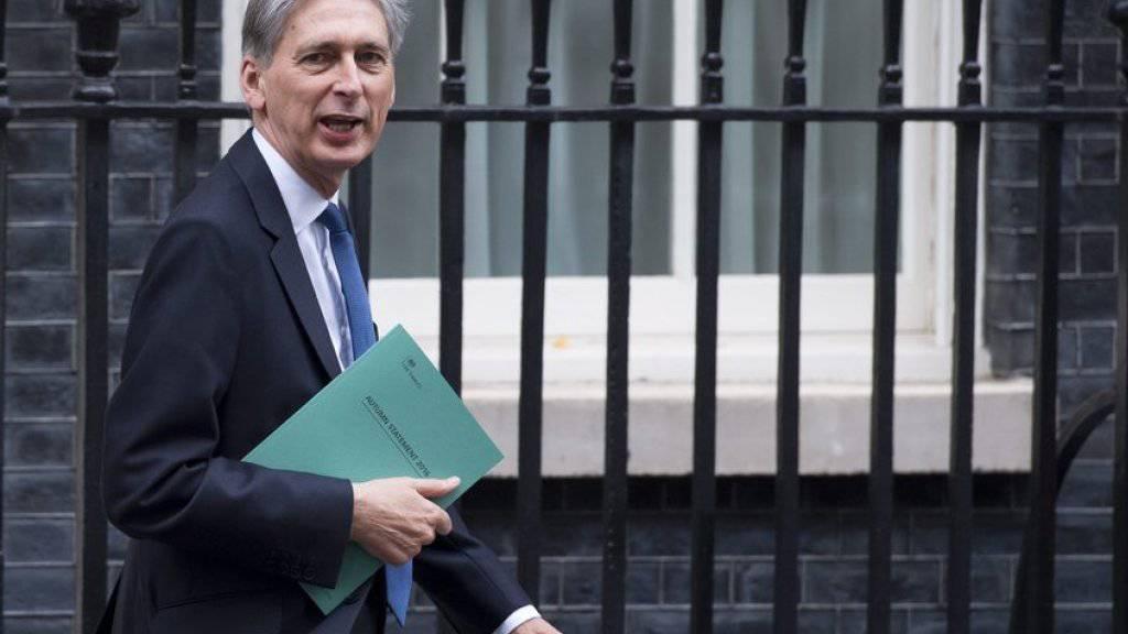 Finanzminister Philip Hammond am Mittwoch in London.
