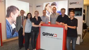 Das GAW-Team im neuen Shop bei Expert am Klosterplatz.