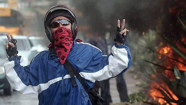 Demonstrant in Honduras