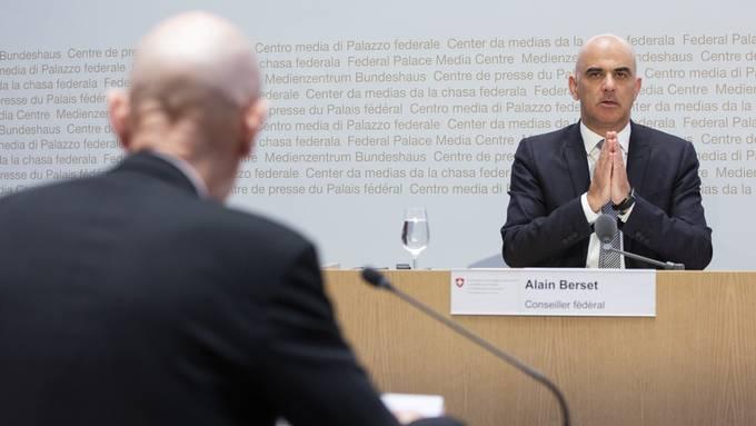 Bundesrat Alain Berset und Daniel Koch (BAG)