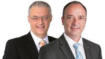 Roland Kuster (links) und Markus Dieth. ZVG