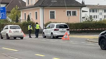Polizeieinsatz in Wohlen 19. Oktober 2020