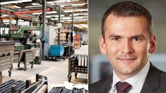 Zehnder-Finanzchef René Grieder – Blick in die Zehnder-Produktionsstätte.