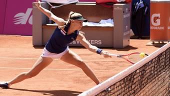 Erfolgreich gekämpft: Jil Teichmann steht beim WTA-Turnier in Prag im Viertelfinal