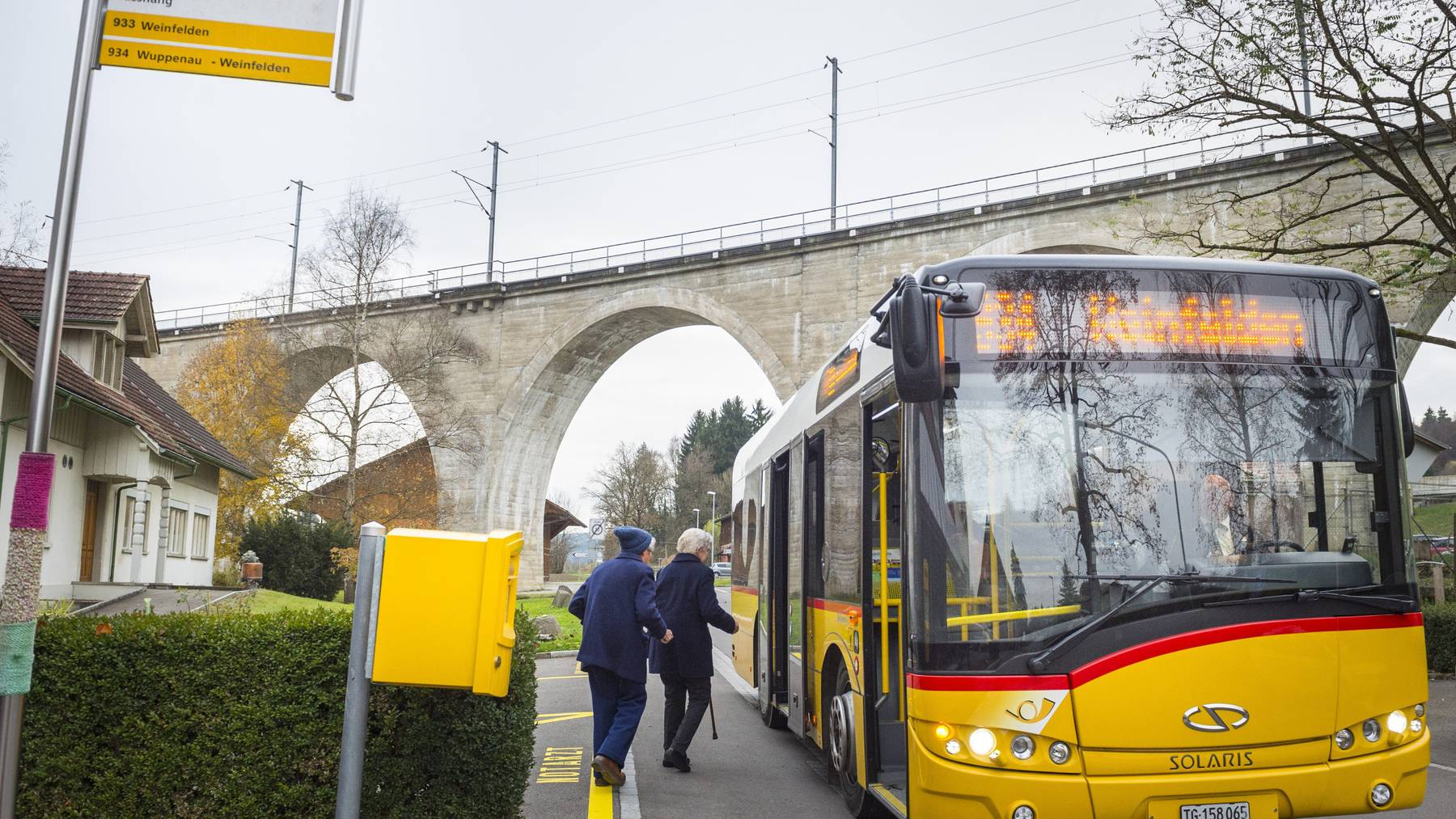 Womöglich hält ab 2019 kein Postauto mehr beim Altersheim Bussnang.