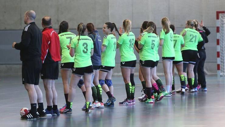 Zum letzten mal sind die Damen der HSG Leimental in dieser Saison im Einsatz.