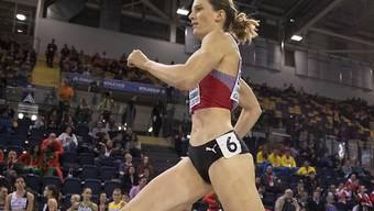 Startläuferin Lea Sprunger läuft mit der 4x400-m-Staffel in Yokohama in den 7. Rang