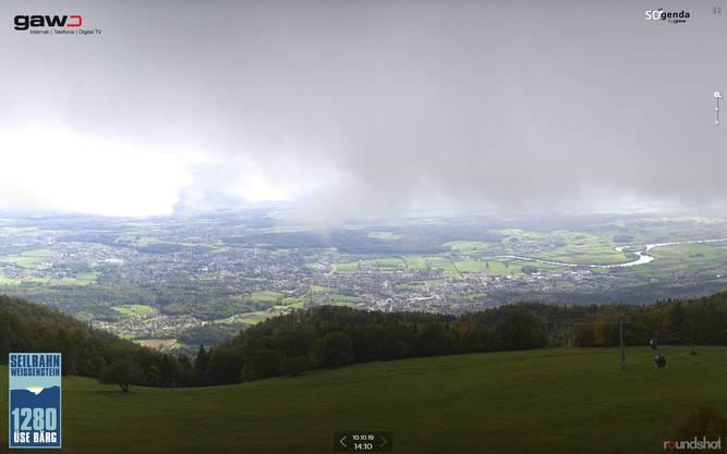 Und hier der Blick vom Weissenstein in Richtung Mittelland