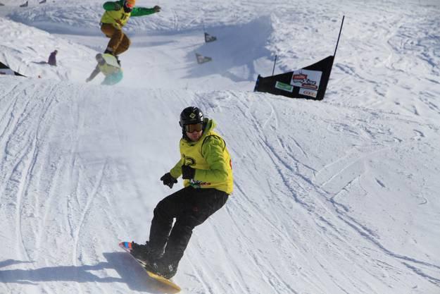 Der «Boardercross-Contest» verlangt von den Teilnehmern alles ab.