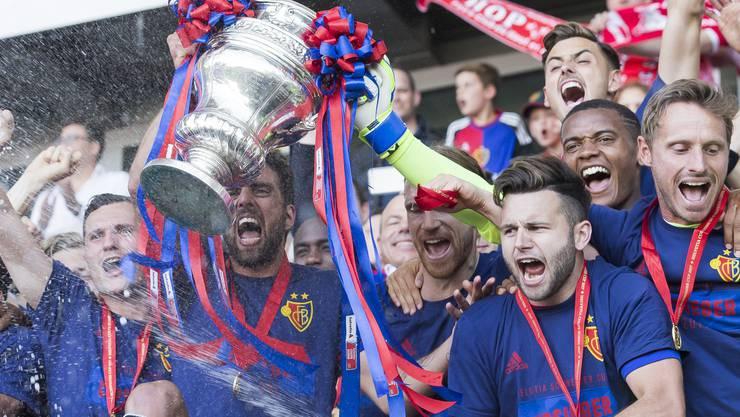 Der FC Basel jubelte am 25. Mai über den Gewinn des Schweizer Cups.
