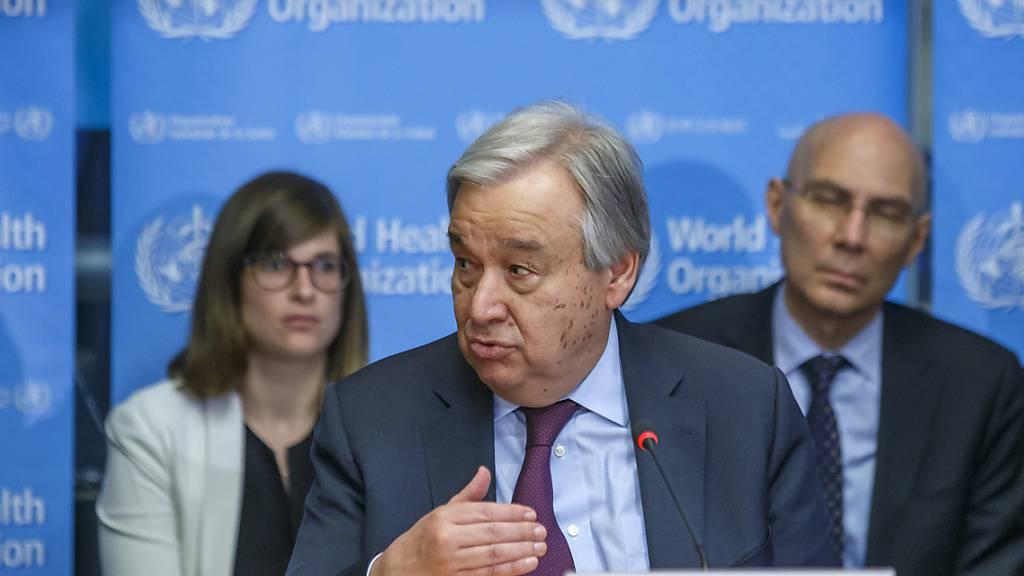 Uno-Chef Guterres: Internationaler Kampf gegen das Virus zu langsam