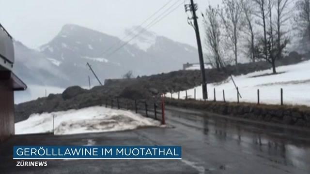 Gerölllawine im Muotathal