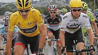 Mark Cavendish siegt im Sprint, Fabian Cancellara bleibt in Gelb