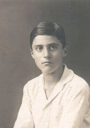 Wilfried de Beauclair im Alter von 12 Jahren.